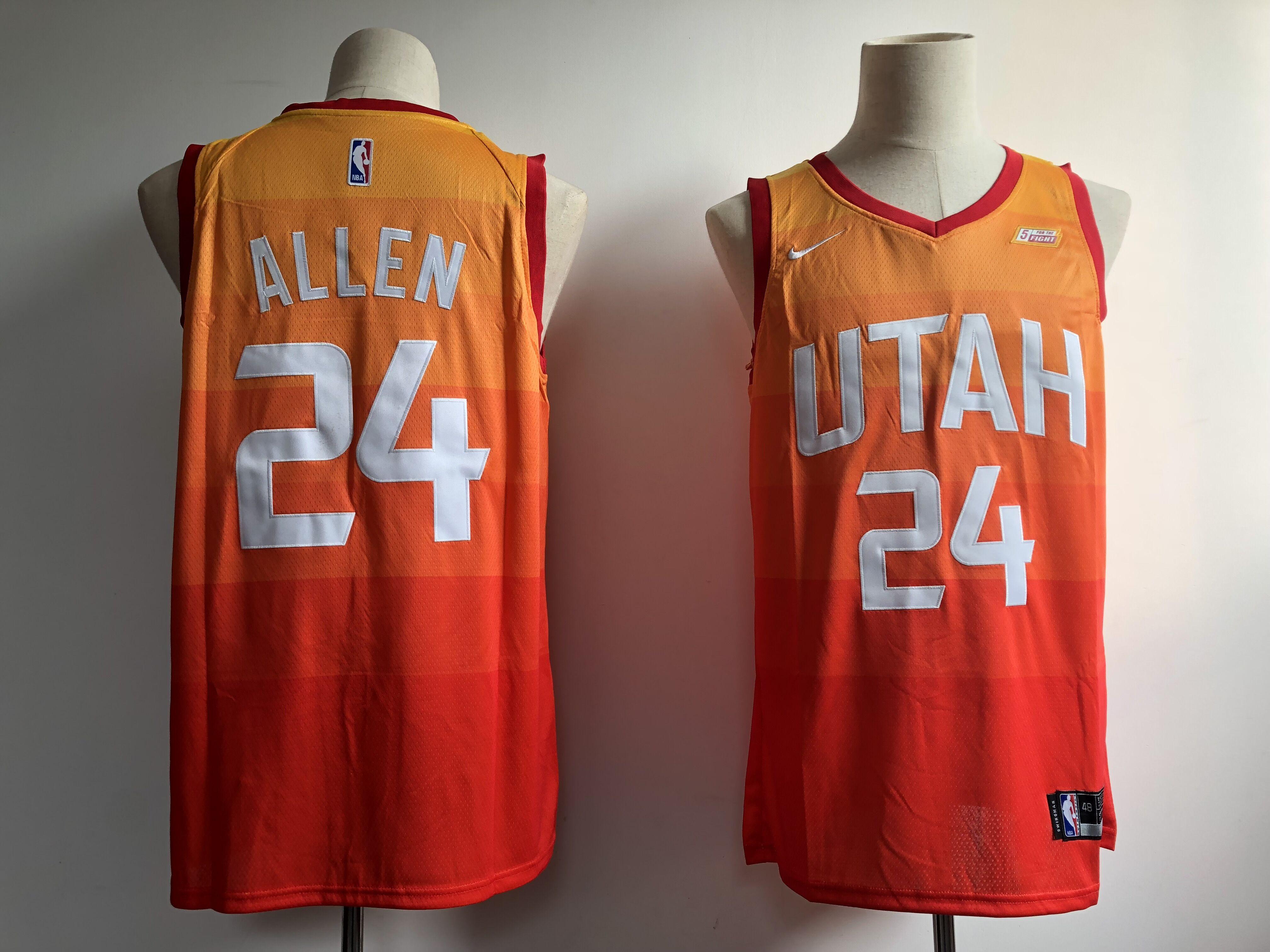 6d132d3e4820 Jazz 24 Grayson Allen Orange 2018-19 City Edition Nike Swingman Jersey