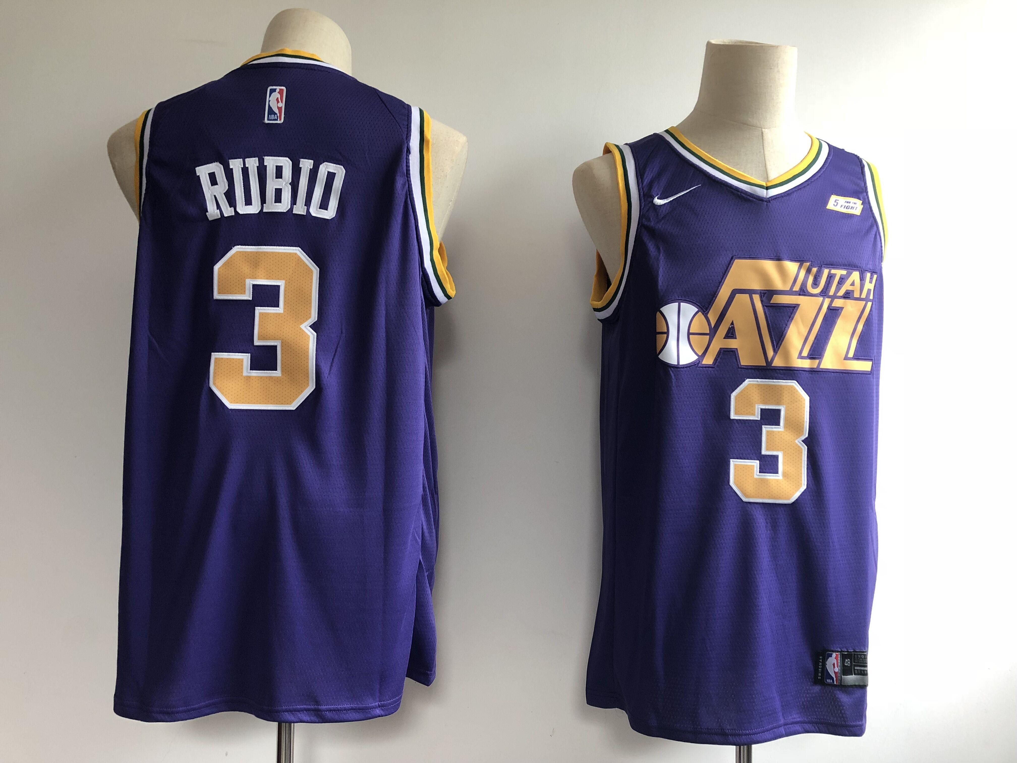 Jazz 3 Ricky Rubio Purple Nike Swingman Jersey d7de5e691