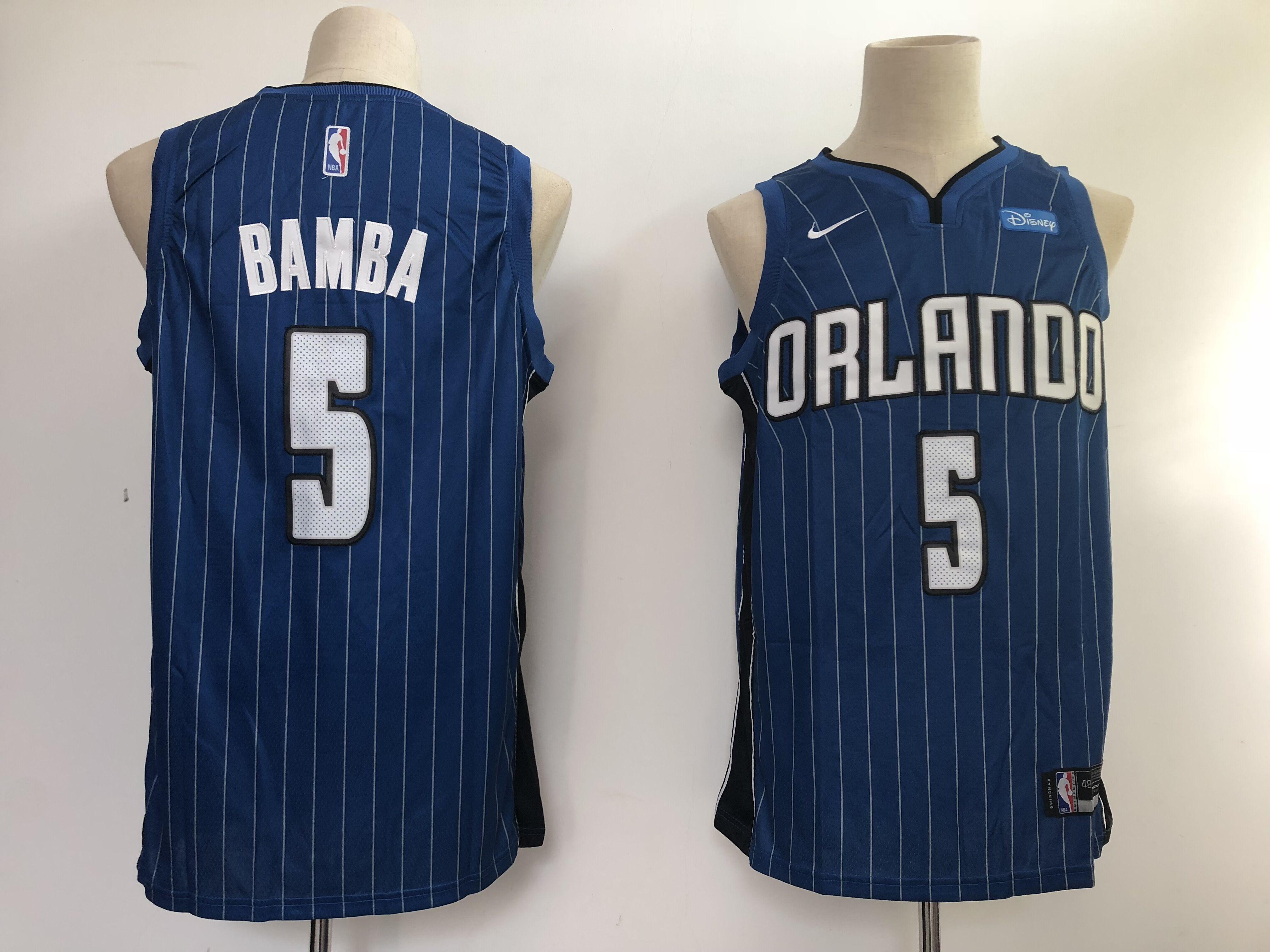 Magic 5 Mohamed Bamba Blue Nike Swingman Jersey