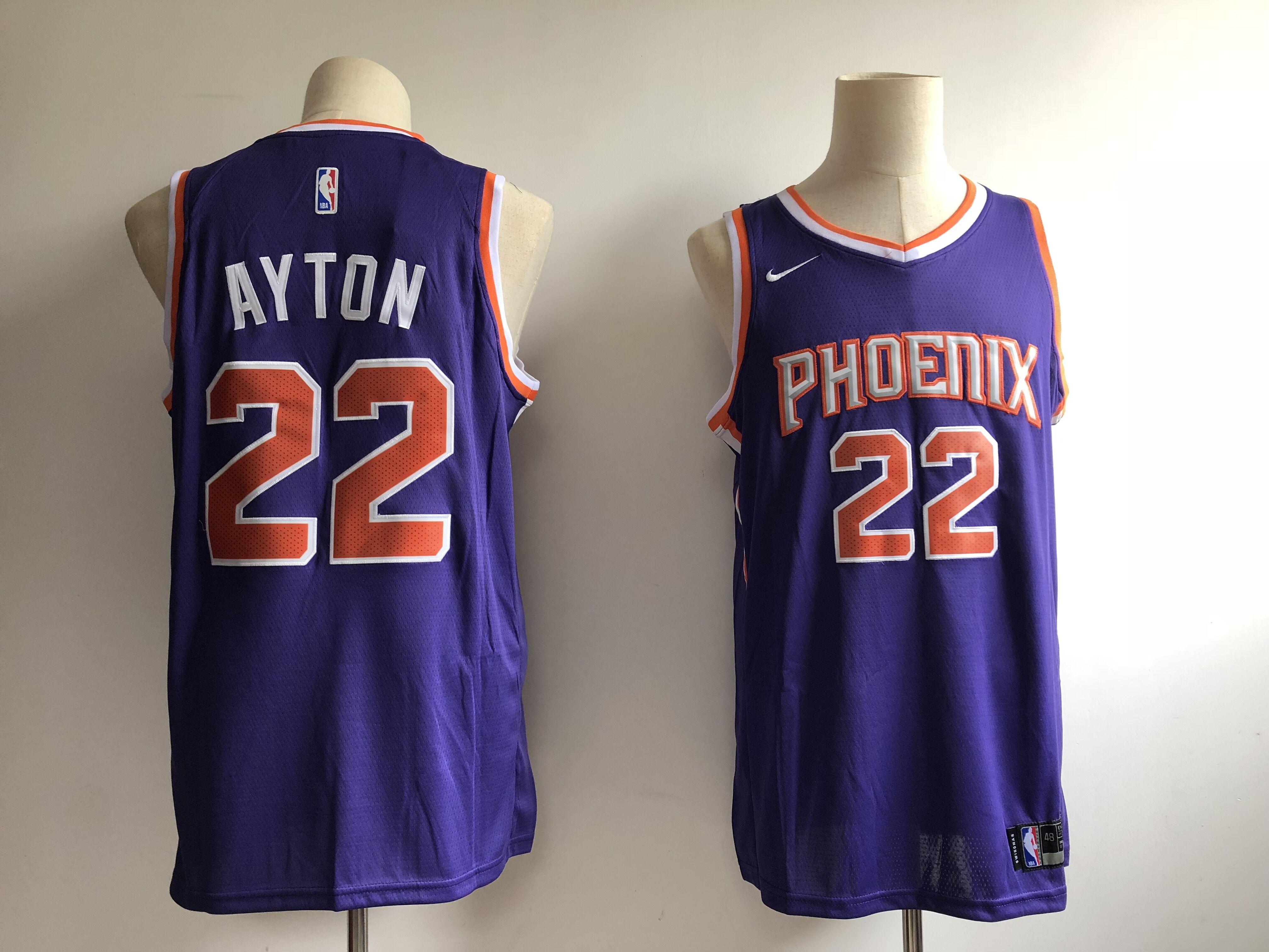 Suns 22 Deandre Ayton Purple Nike Swingman Jersey