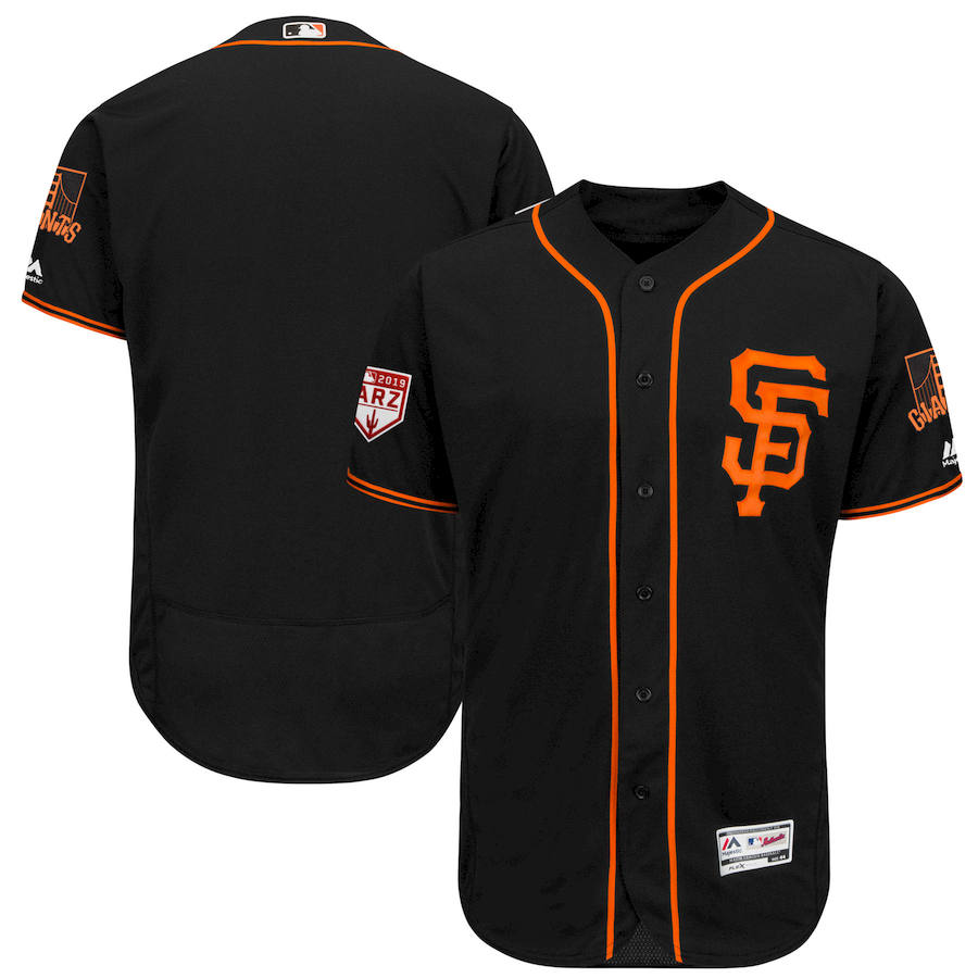 SF Giants Black 2019 Spring Training Flexbase Jersey