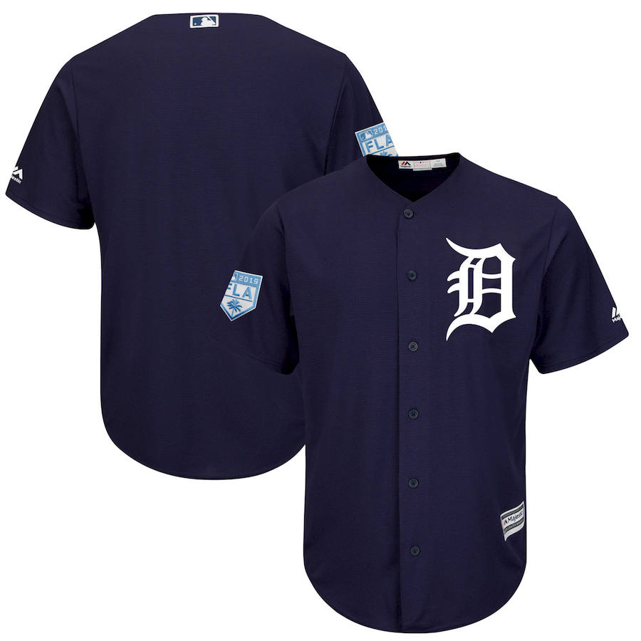 Tigers Navy 2019 Spring Training Cool Base Jersey