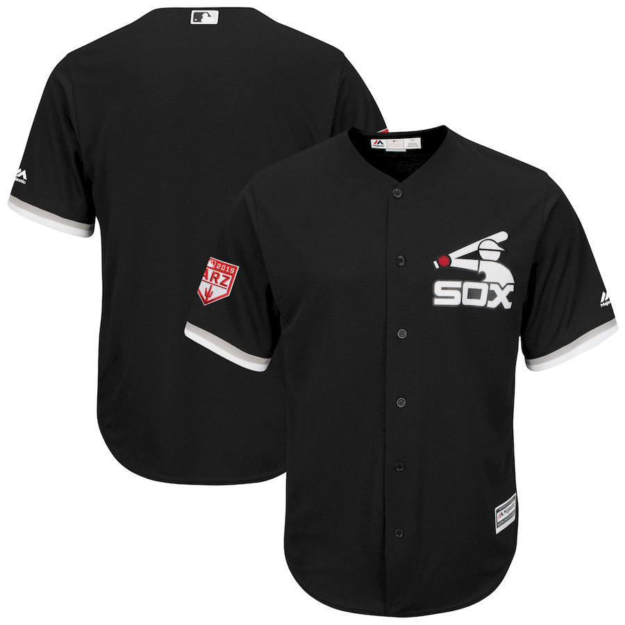 White Sox Black 2019 Spring Training Cool Base Jersey