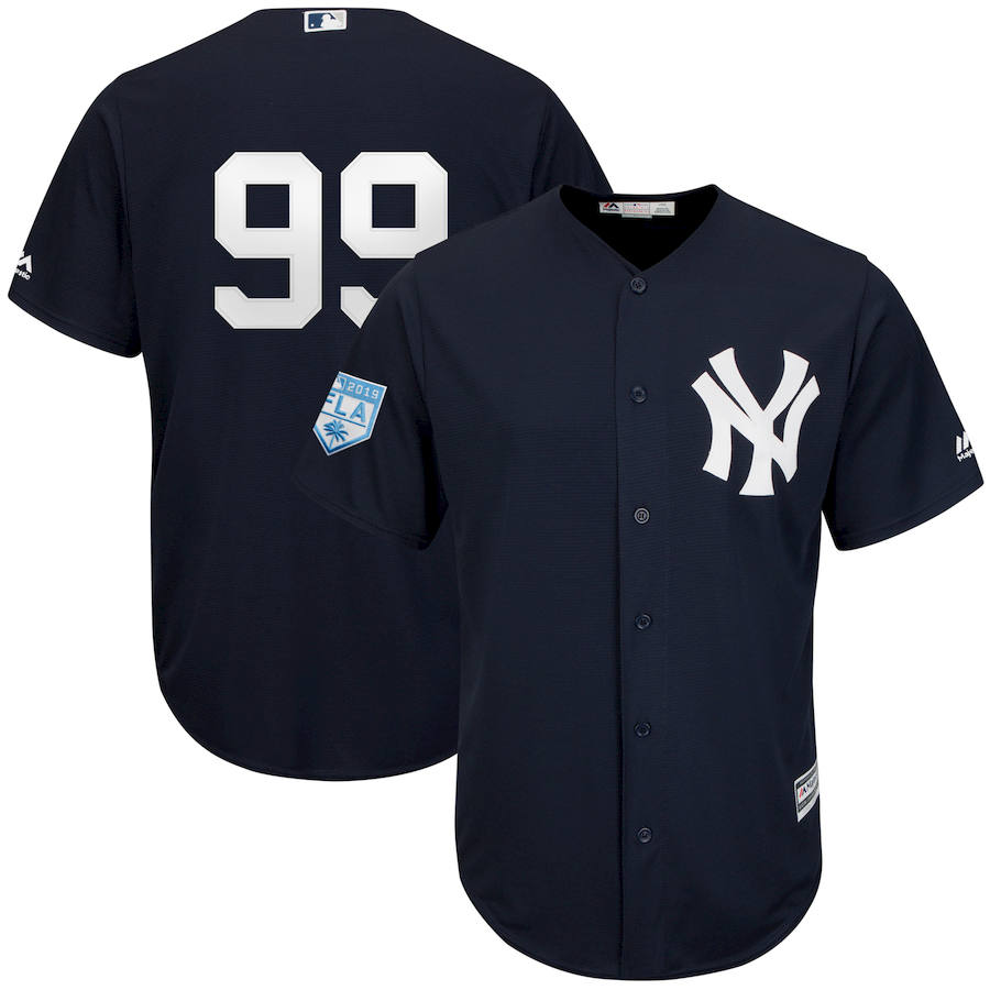 Yankees 99 Aaron Judge Navy 2019 Spring Training Cool Base Jersey