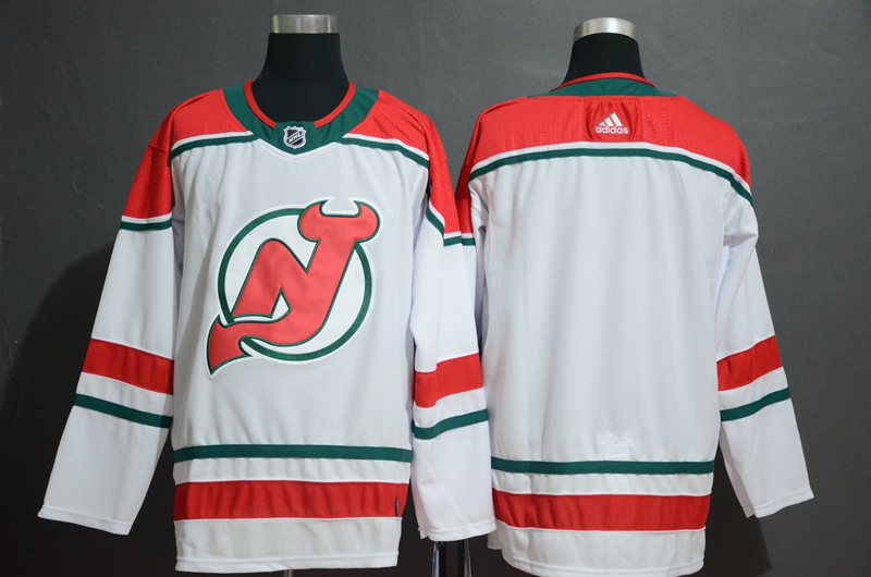 Devils White Alternate Breakaway Adidas Jersey