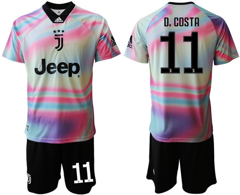 2018-19 Juventus 11 D. COSTA Maglia EA SPORTS Soccer Jersey