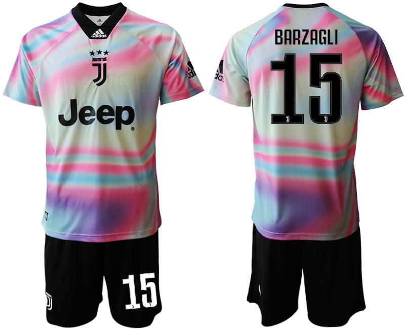 2018-19 Juventus 15 BARZAGLI Maglia EA SPORTS Soccer Jersey