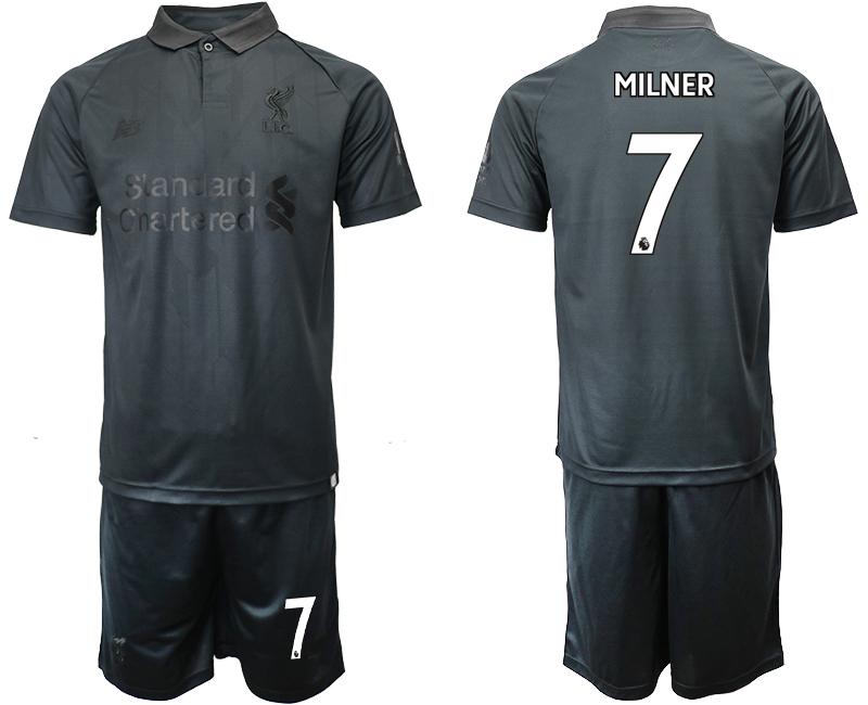 2018-19 Liverpool 7 MILNER Black Goalkeeper Soccer Jersey
