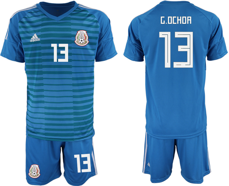 Mexico 13 G.OCHOA Blue Goalkeeper Soccer Jersey