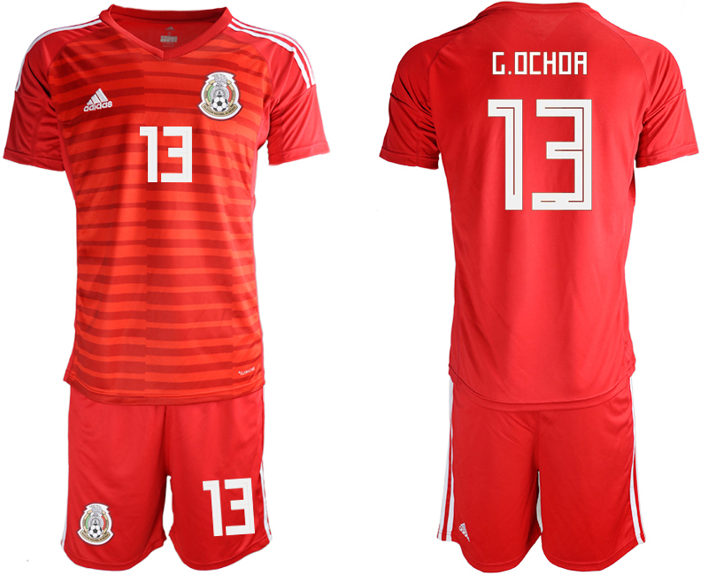Mexico 13 G.OCHOA Red Goalkeeper Soccer Jersey