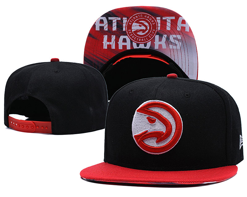 Atlanta Hawks Black Adjustable Hat LH
