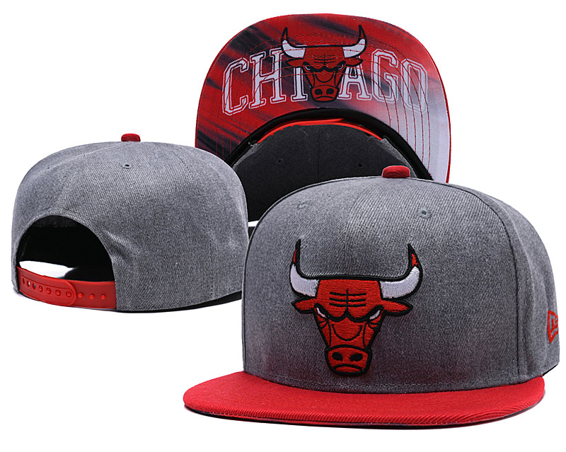 Chicago Bulls Gray Adjustable Hat LH