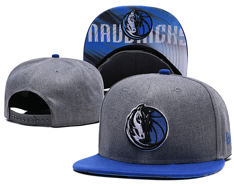 Dallas Mavericks Gray Adjustable Hat LH