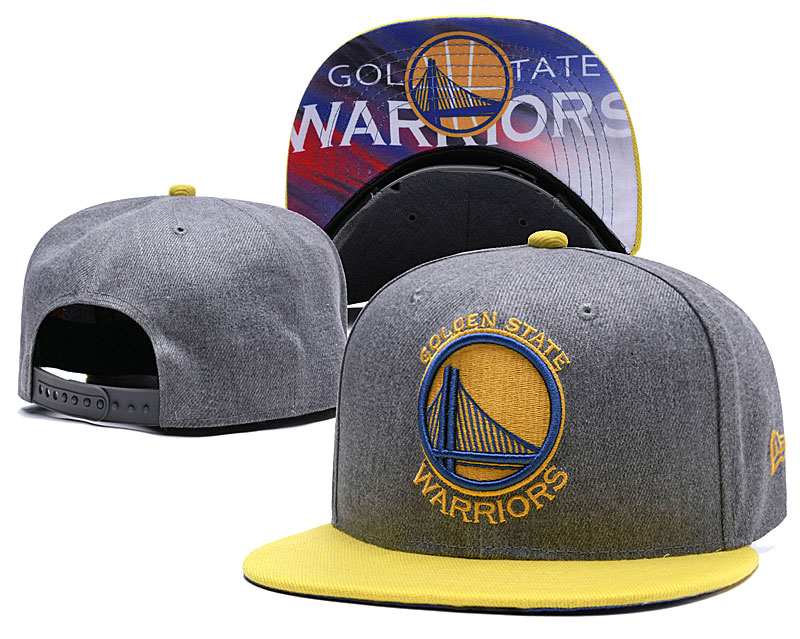 Golden State Warriors Gray Adjustable Hat LH