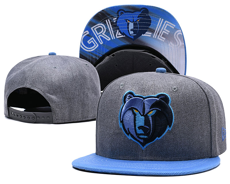 Memphis Grizzlies Gray Adjustable Hat LH