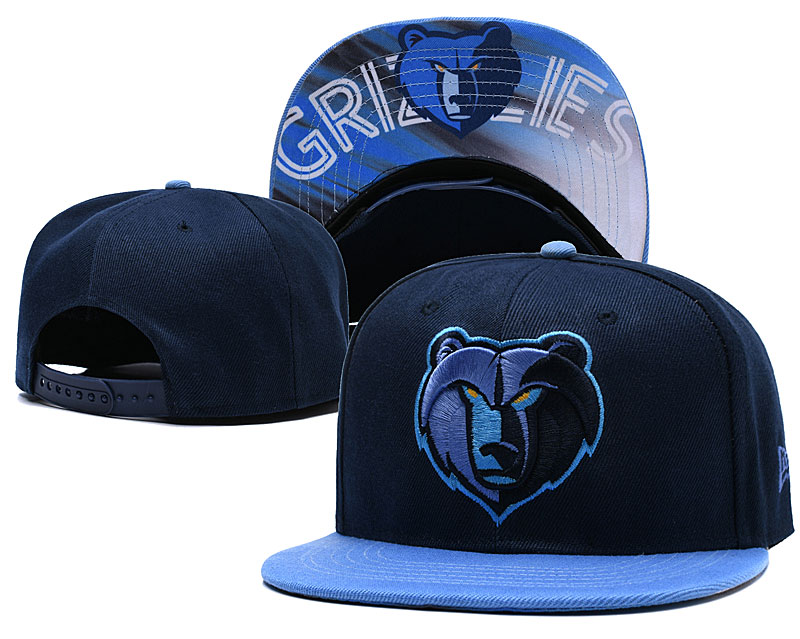 Memphis Grizzlies Navy Adjustable Hat LH