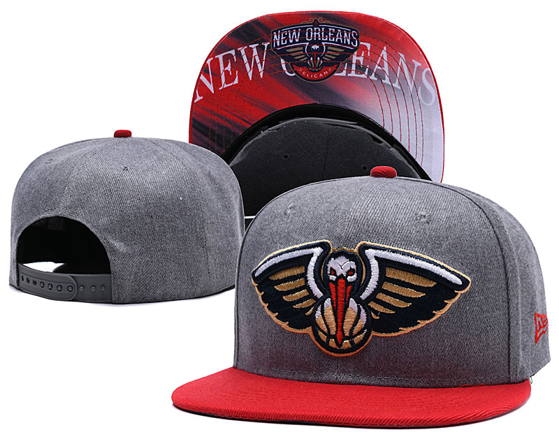 New Orleans Pelicans Gray Adjustable Hat LH