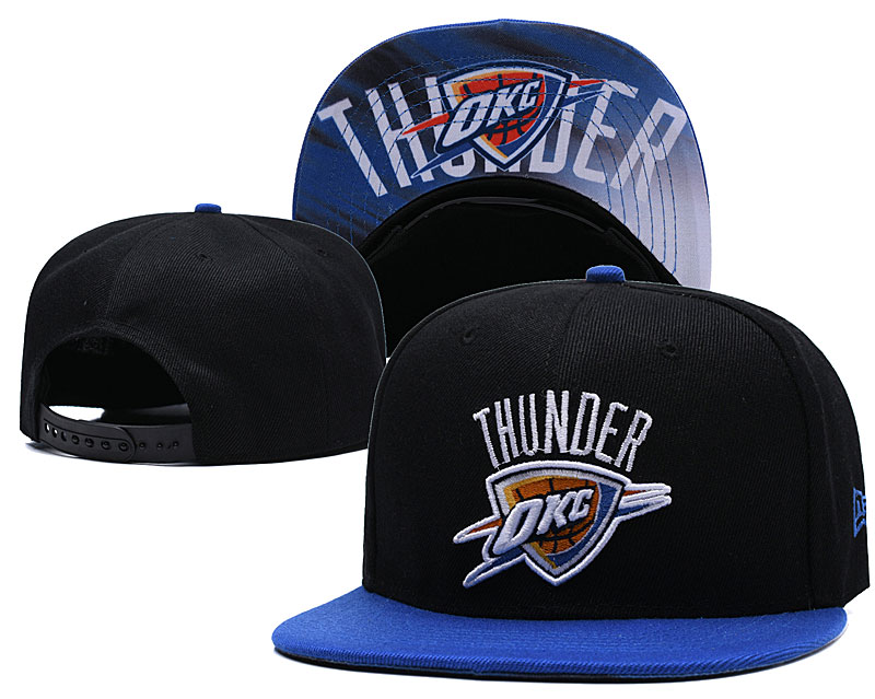 Oklahoma City Thunder Black Adjustable Hat LH