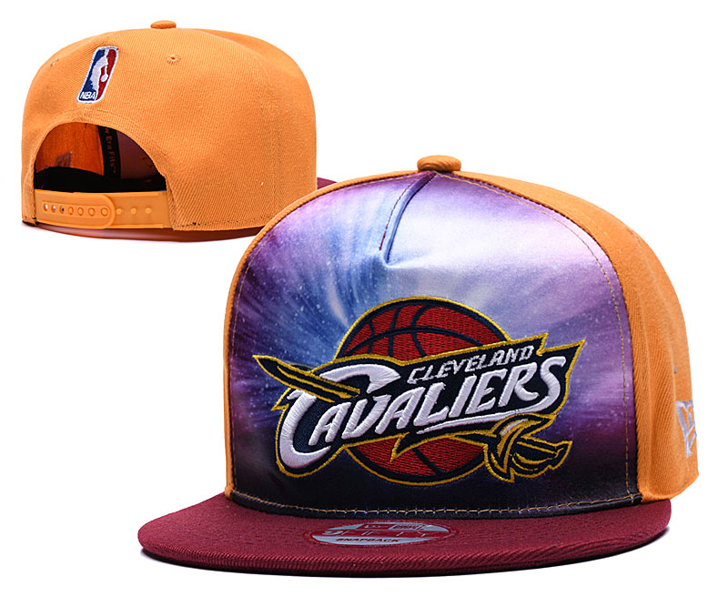 Cavaliers Galaxy Logo Yellow Adjustable Hat TX
