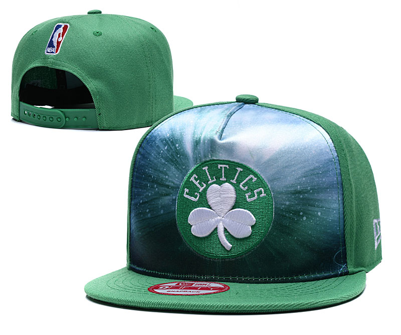 Celtics Galaxy Logo Green Adjustable Hat TX