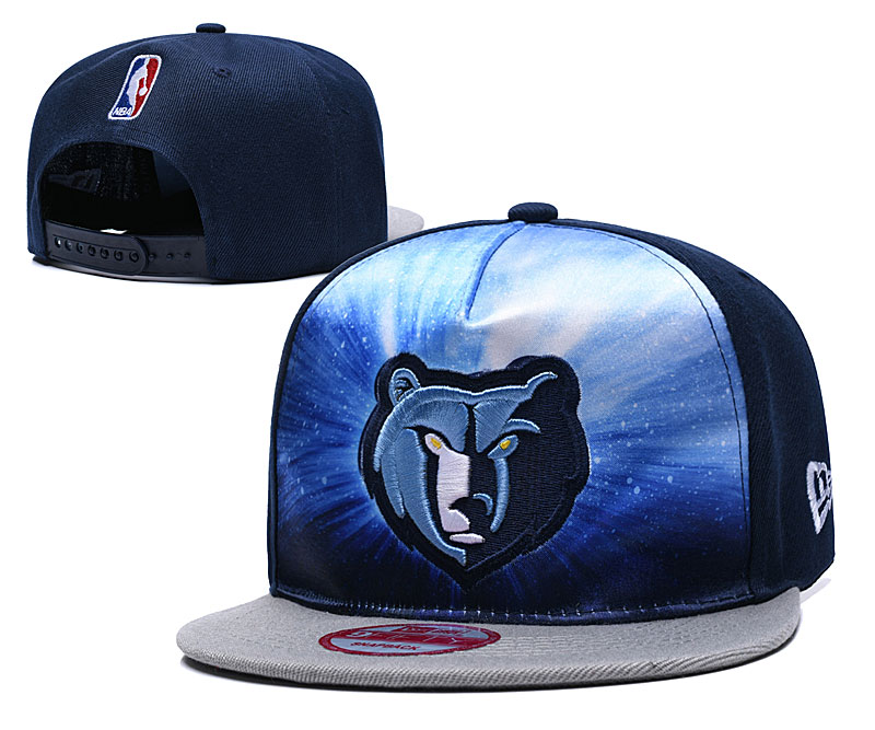 Grizzlies Galaxy Logo Navy Adjustable Hat TX