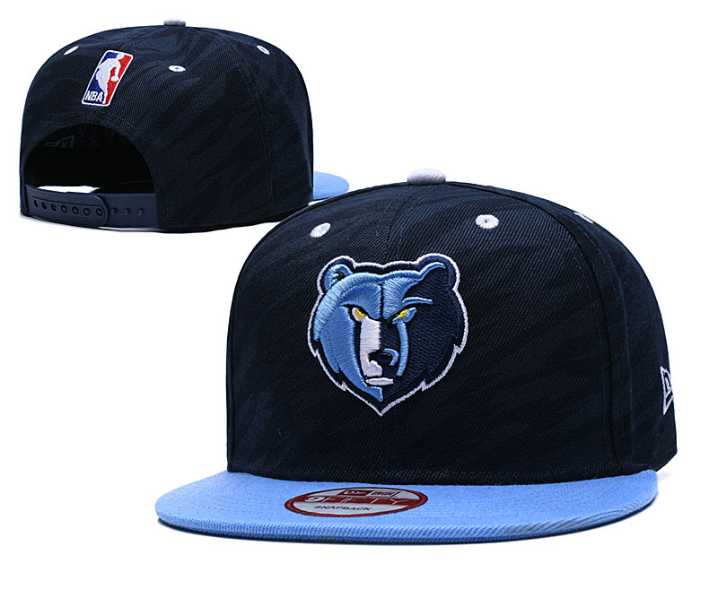 Grizzlies Team Logo Navy Adjustable Hat TX