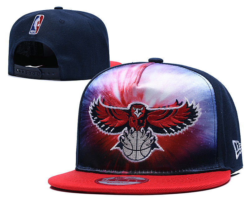 Hawks Galaxy Logo Navy Adjustable Hat TX