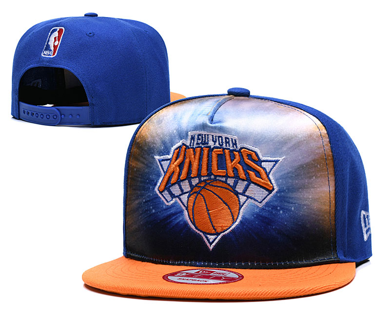 Knicks Fresh Logo Royal Adjustable Hat TX