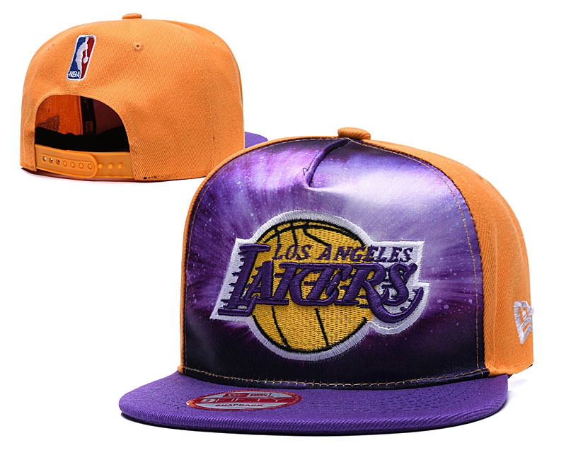 Lakers Galaxy Logo Yellow Adjustable Hat TX