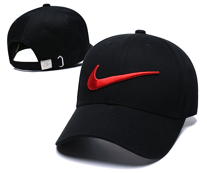 Nike Classic Red Swoosh Black Peaked Adjustable Hat TX