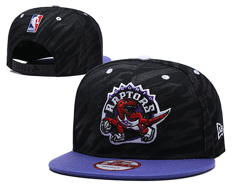 Raptors Fresh Logo Black Adjustable Hat TX