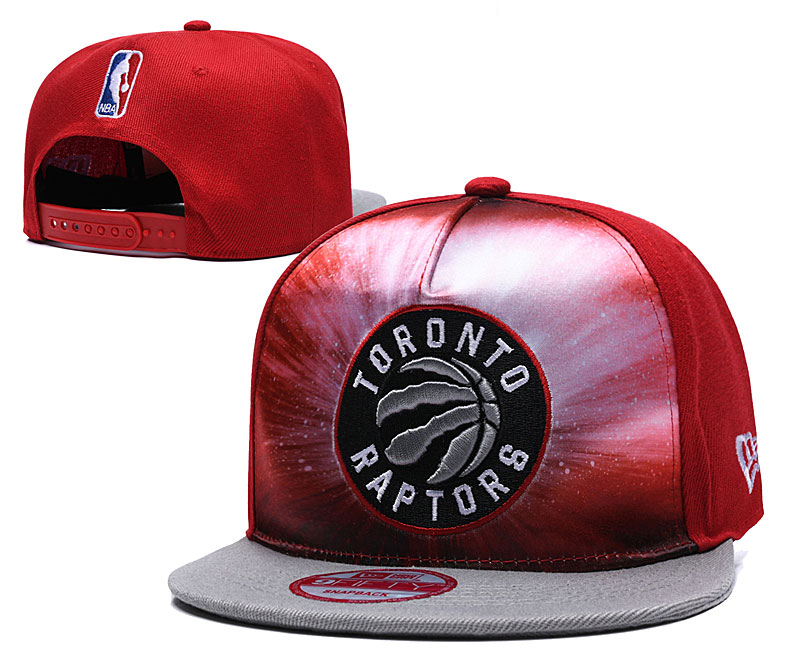 Raptors Galaxy Logo Red Adjustable Hat TX
