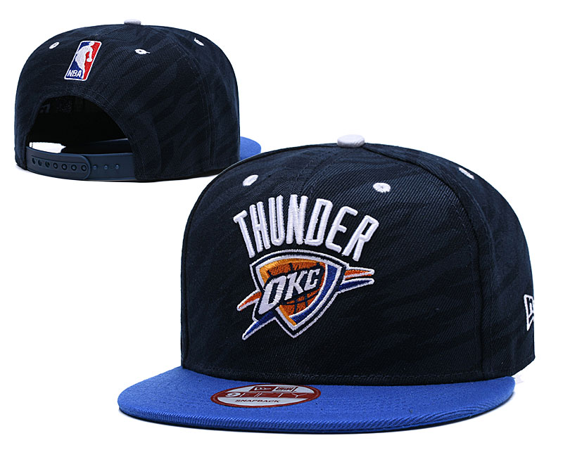 Thunder Team Logo Navy Adjustable Hat TX