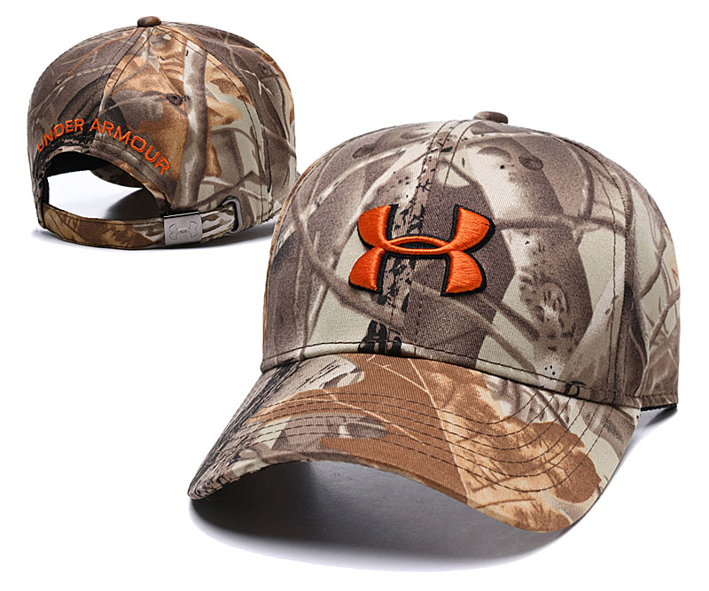 Under Armour Fresh Logo Camo Peaked Adjustable Hat TX