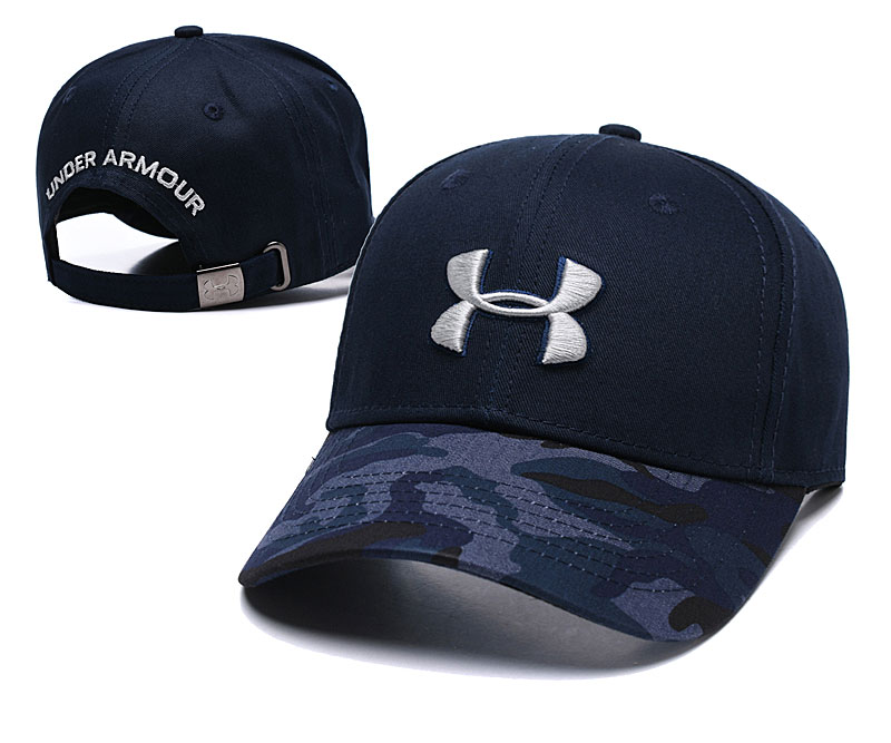 Under Armour Fresh Logo Navy Peaked Adjustable Hat TX