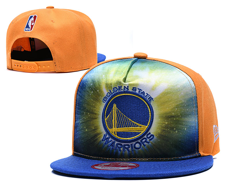 Warriors Galaxy Logo Yellow Adjustable Hat TX