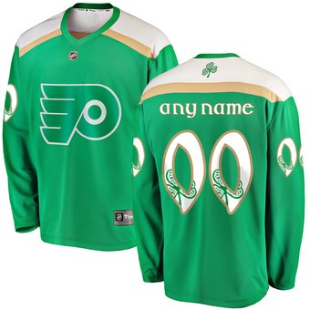 Flyers Green Men's Customized 2019 St. Patrick's Day Adidas Jersey