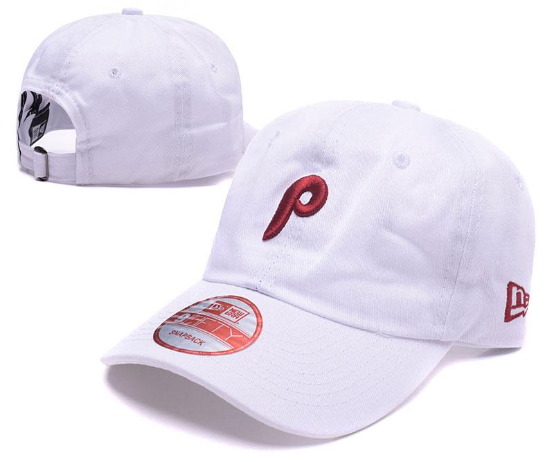 Pirates Team Logo White Peaked Adjustable Hat LH