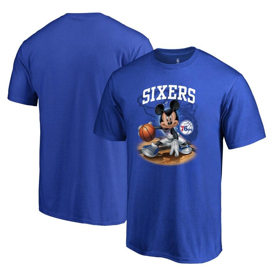 Philadelphia 76ers Fanatics Branded Disney NBA All-Star T-Shirt Royal