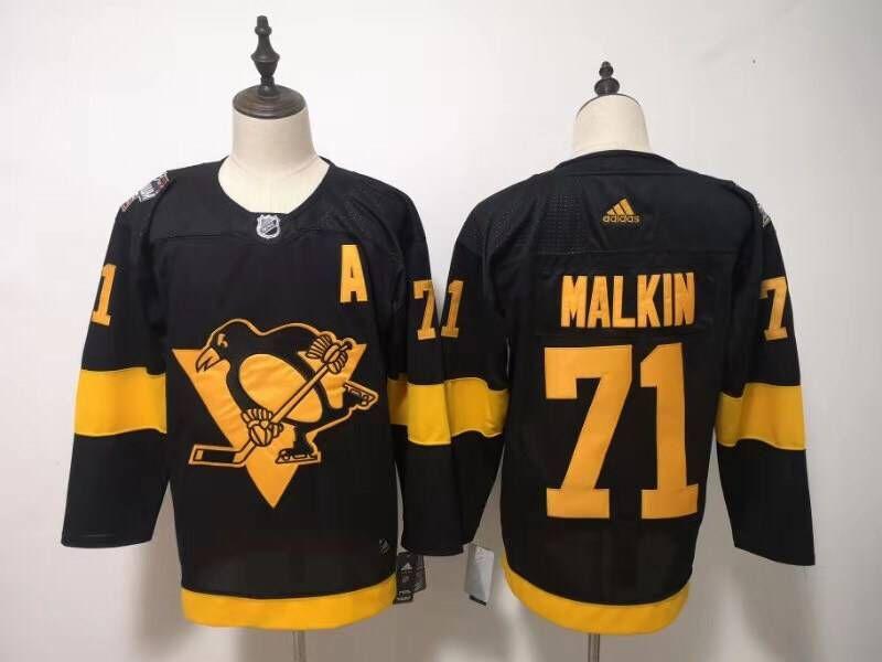 Penguins 71 Evgeni Malkin Black 2019 NHL Stadium Series Adidas Jersey