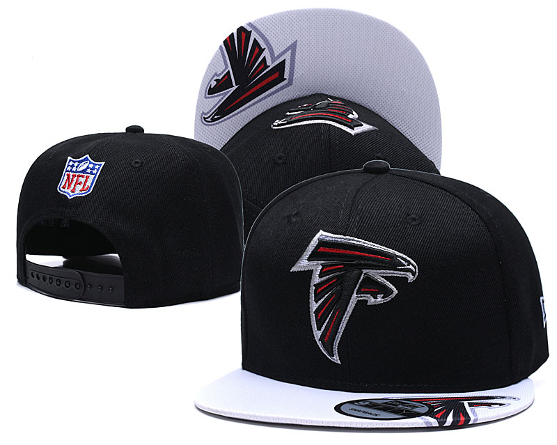 Falcons Fresh Logo Black Adjustable Hat TX