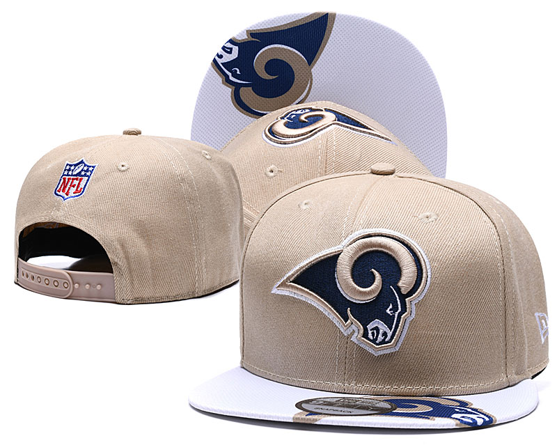 Rams Team Logo Cream Adjustable Hat TX