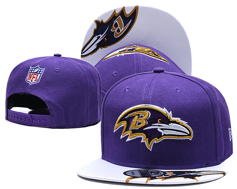 Ravens Team Logo Purple Adjustable Hat TX