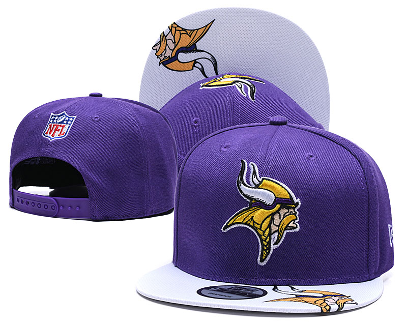 Vikings Team Logo Purple Adjustable Hat TX