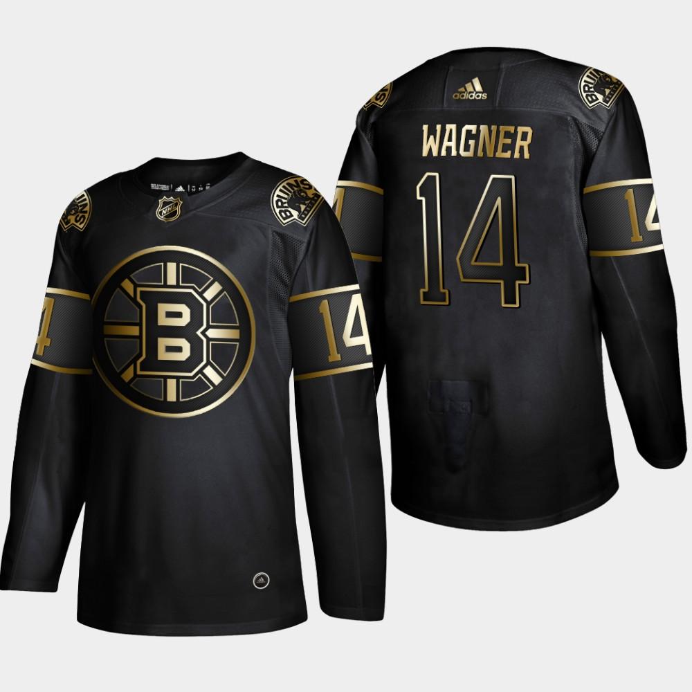 Bruins 14 Chris Wagner Black Gold Adidas Jersey