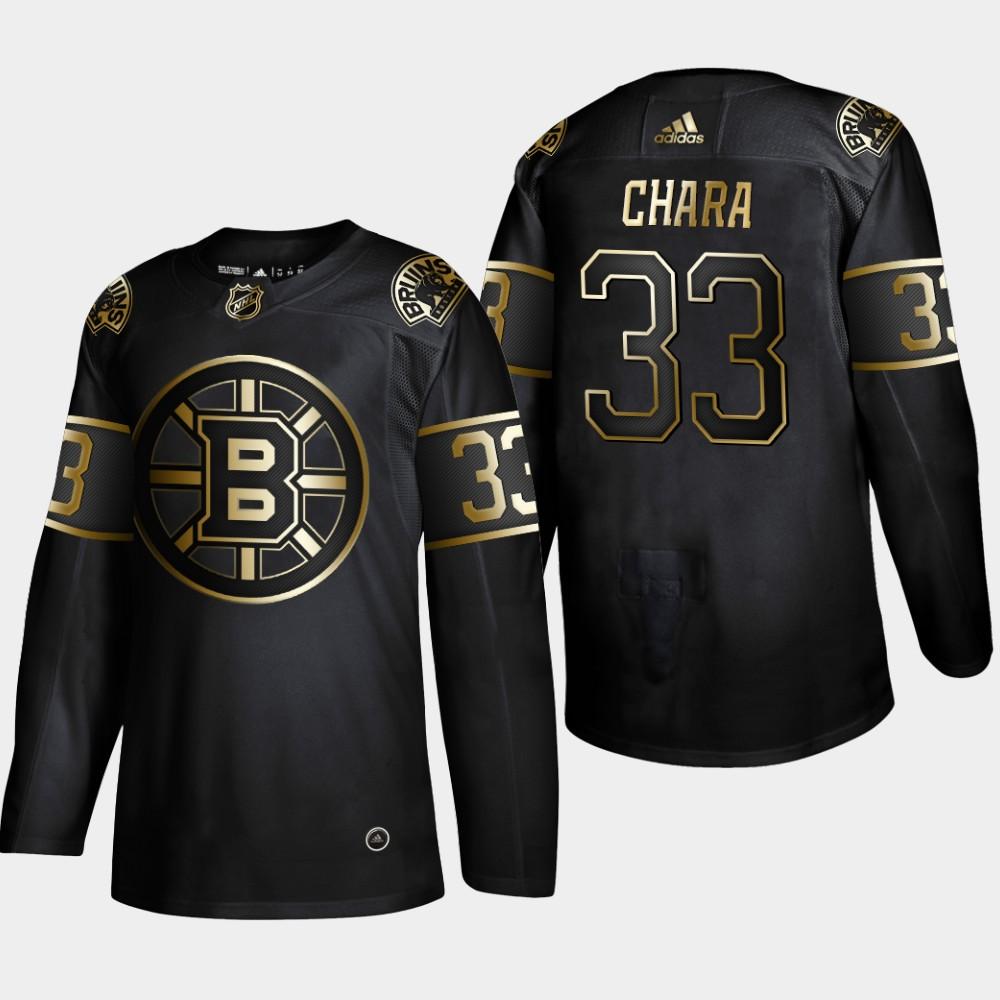 Bruins 33 Zdeno Chara Black Gold Adidas Jersey