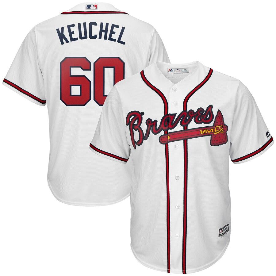 Braves 60 Dallas Keuchel White Cool Base Jersey