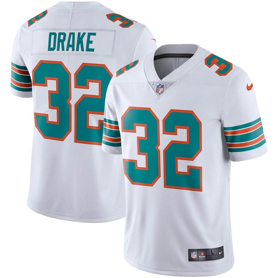 Nike Dolphins 32 Kenyan Drake White Alternate Vapor Untouchable Limited Jersey