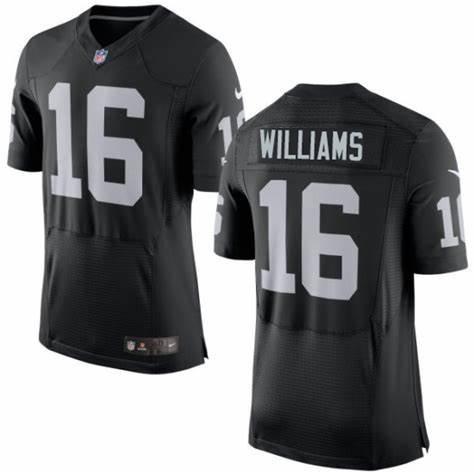 Nike Raiders 16 Tyrell Williams Black Elite Jersey