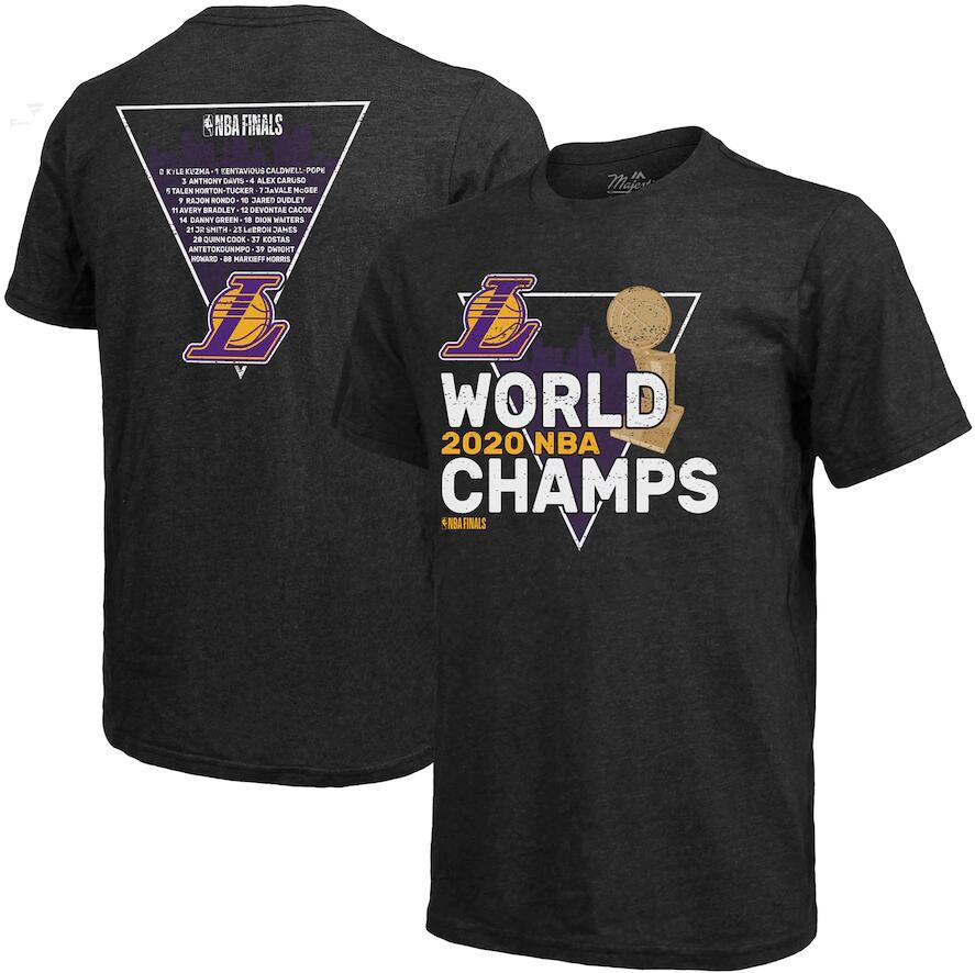 Men's Los Angeles Lakers Black 2020 NBA Finals Champions Tri Blend T-Shirt